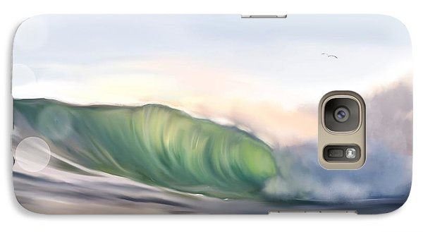 Galaxy Case featuring the painting Morning Break by Dawn Harrell