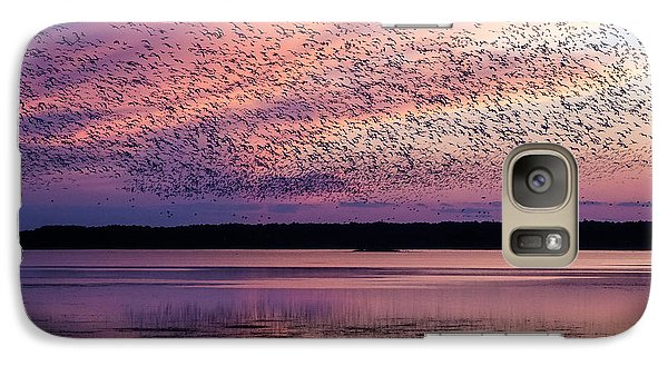 Galaxy Case featuring the photograph Morning Commute by Joan Davis