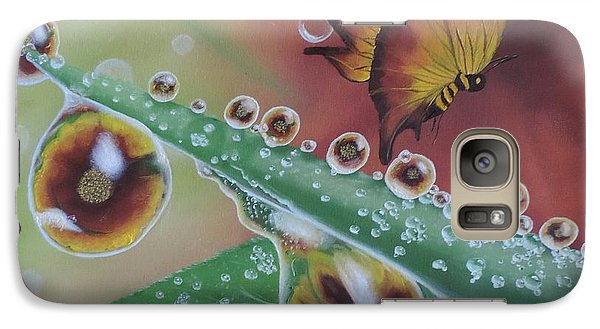 Galaxy Case featuring the painting Morning Dew by Dianna Lewis