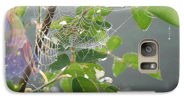 Galaxy Case featuring the painting Morning Dew Flower Fairy by Judith Cheng