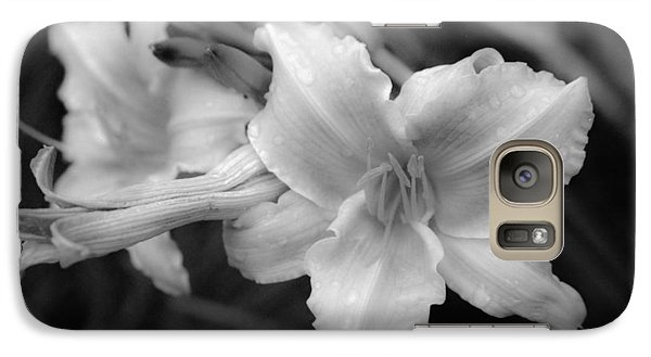 Galaxy Case featuring the photograph Morning Dew On Lilies by Ross Henton