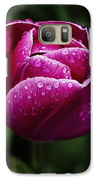 Galaxy Case featuring the photograph Morning Due Drops by Kim Andelkovic