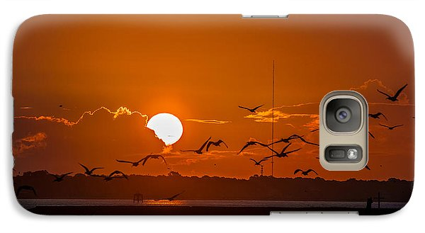 Galaxy Case featuring the photograph Morning Flight by RC Pics