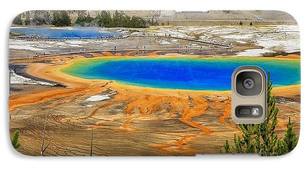 Grand Prismatic Geyser Yellowstone National Park Galaxy S7 Case