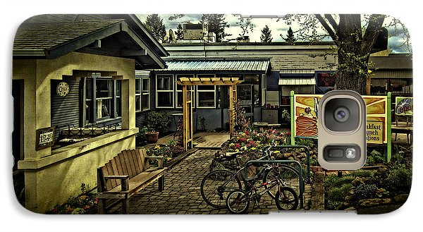 Galaxy Case featuring the photograph Morning Glory Cafe Ashland by Thom Zehrfeld