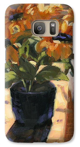 Galaxy Case featuring the painting Morning Headlines by Nancy  Parsons