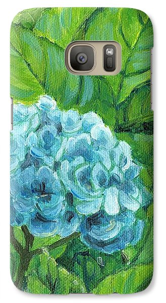 Galaxy Case featuring the painting Morning Hydrangea by Jingfen Hwu