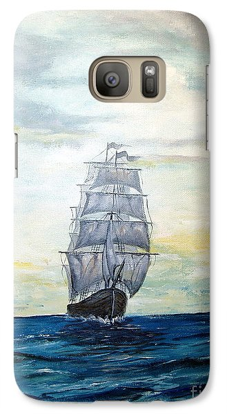 Galaxy Case featuring the painting Morning Light On The Atlantic by Lee Piper