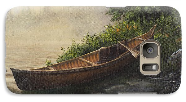 Galaxy Case featuring the painting Morning Mist by Kim Lockman