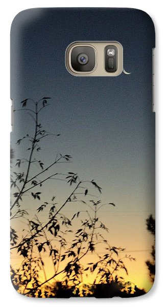 Galaxy Case featuring the photograph Morning Moonshine by Carla Carson