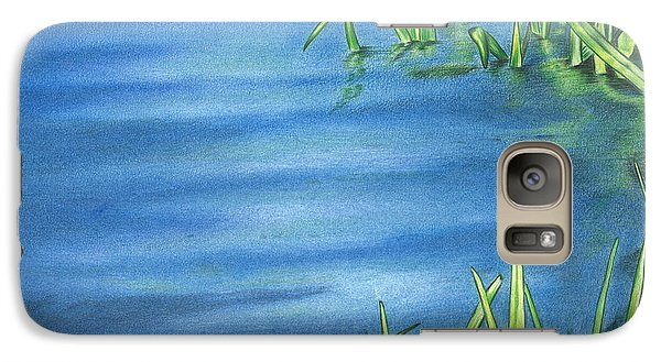 Galaxy Case featuring the drawing Morning On The Pond by Troy Levesque
