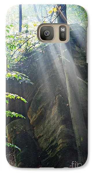 Galaxy Case featuring the photograph Morning Rays by Lila Fisher-Wenzel