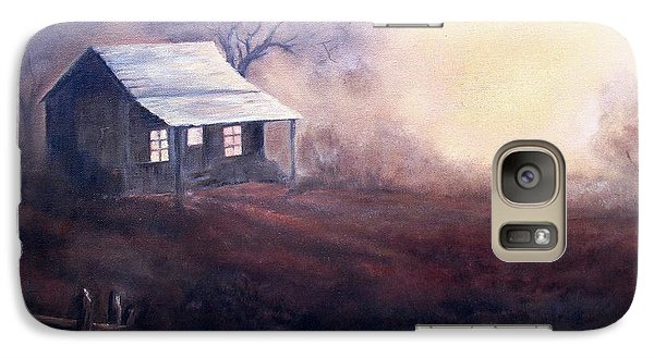 Galaxy Case featuring the painting Morning Reflections by Hazel Holland