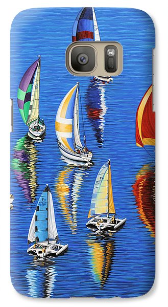 Galaxy Case featuring the painting Morning Reflections by Jane Girardot