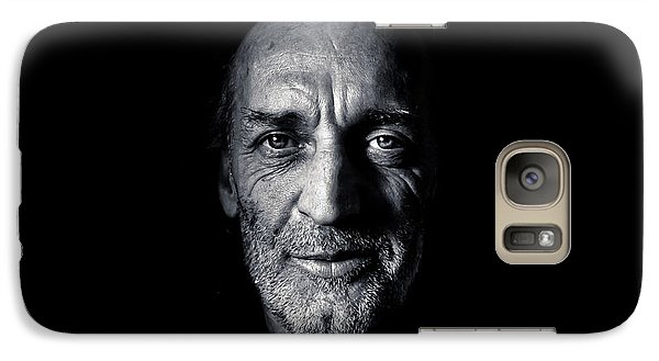 Galaxy Case featuring the photograph Morning Self Portrait In Black And White by Brian Carson