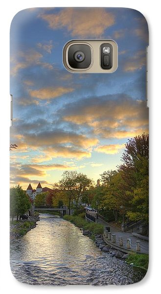 Galaxy Case featuring the photograph Morning Sky On The Fox River by Daniel Sheldon