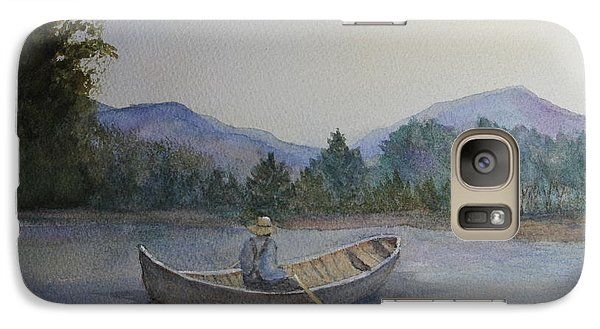 Galaxy Case featuring the painting Morning Stillness by Jan Cipolla