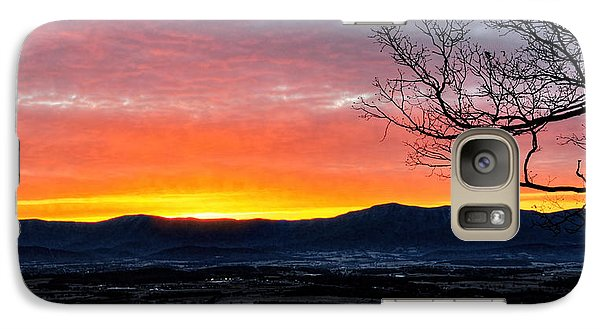 Galaxy Case featuring the photograph Morning Tangerine Glow by Lara Ellis