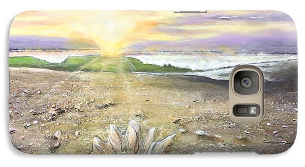 Galaxy Case featuring the painting Morning Treasure by Dawn Harrell