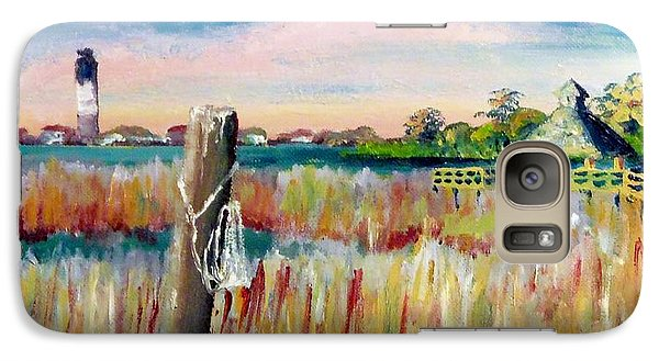 Galaxy Case featuring the painting Morning View In South Port Looking At Oak Island by Jim Phillips