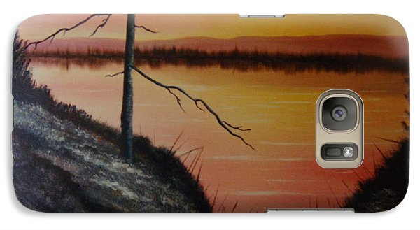 Galaxy Case featuring the painting Morning Yes by Stuart Engel