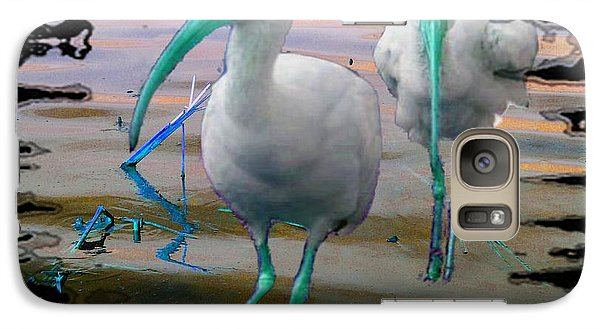 Galaxy Case featuring the photograph Morphed Ibis by Irma BACKELANT GALLERIES