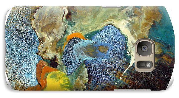 Galaxy Case featuring the painting Morphogenesis Of The Blue Wave Particle by Carolyn Goodridge