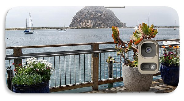 Galaxy Case featuring the photograph Morro Bay And Plants by Debra Thompson
