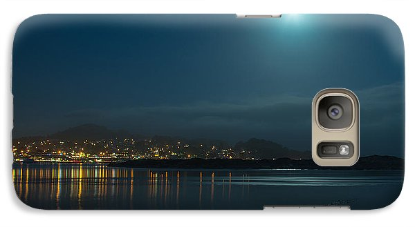 Galaxy Case featuring the photograph Morro Bay At Night by Terry Garvin