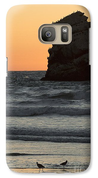 Galaxy Case featuring the photograph Morro Beach Sunset by Terry Garvin