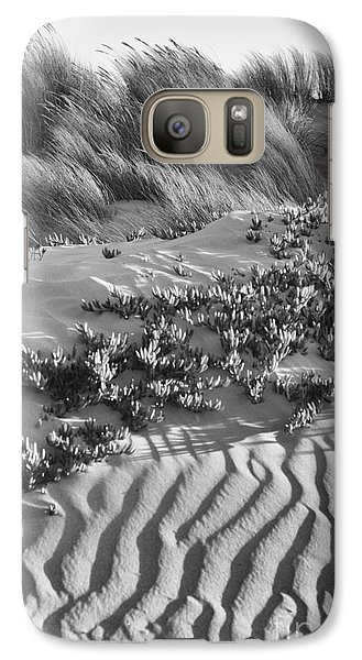 Galaxy Case featuring the photograph Morro Beach Textures Bw by Terry Garvin