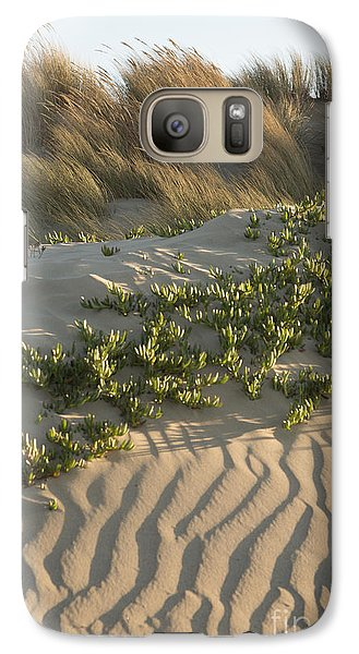 Galaxy Case featuring the photograph Morro Beach Textures by Terry Garvin