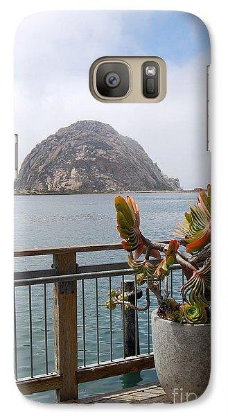 Galaxy Case featuring the photograph Morro Rock At Morro Bay by Debra Thompson
