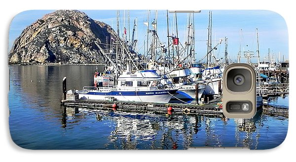Galaxy Case featuring the photograph Morro Rock by Kathy Churchman