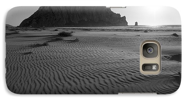 Galaxy Case featuring the photograph Morro Rock Silhouette by Terry Garvin