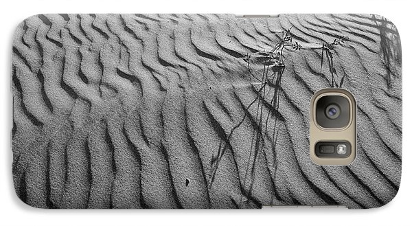 Galaxy Case featuring the photograph Morro Strand Beach Ripples by Terry Garvin