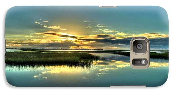 Galaxy Case featuring the photograph Morse Park Landing Sunrise by Ed Roberts
