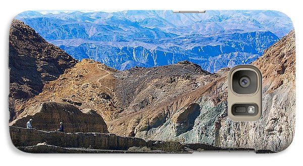 Galaxy Case featuring the photograph Mosaic Canyon Picnic by Stuart Litoff
