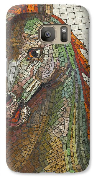 Galaxy Case featuring the photograph Mosaic Horse by Marcia Socolik