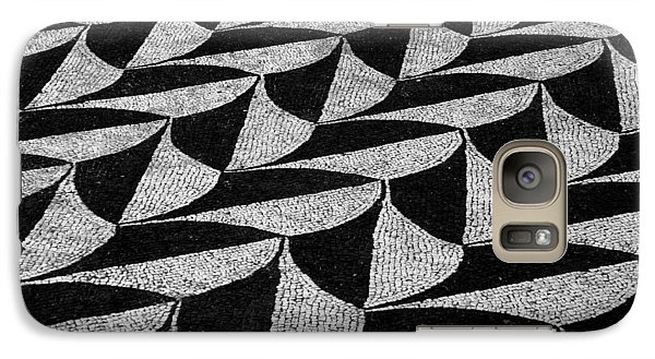 Galaxy Case featuring the photograph Mosaic Tiles Of Roman Ruins by Caroline Stella