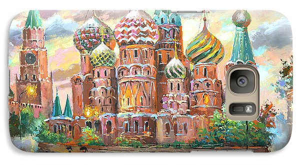 Galaxy Case featuring the painting Moscow by Dmitry Spiros