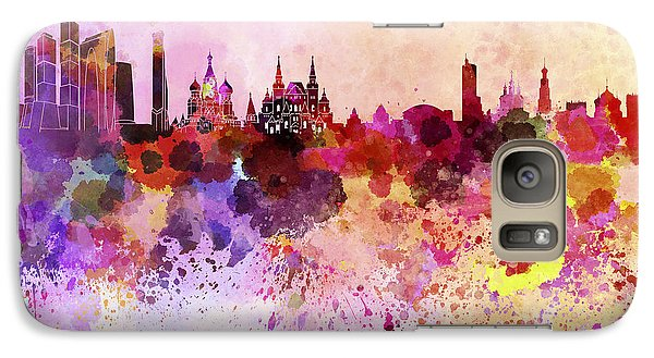 Moscow Skyline In Watercolor Background Galaxy S7 Case