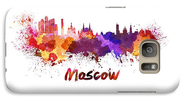Moscow Skyline In Watercolor Galaxy S7 Case