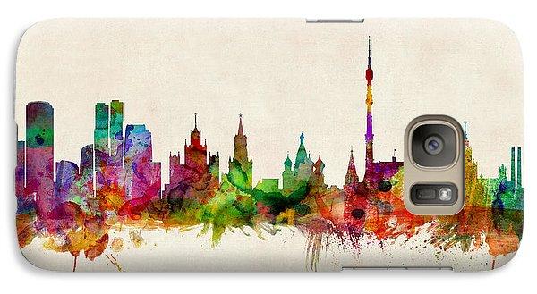 Moscow Skyline Galaxy Case by Michael Tompsett