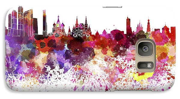 Moscow Skyline White Background Galaxy S7 Case