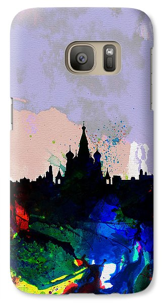Moscow Watercolor Skyline Galaxy S7 Case