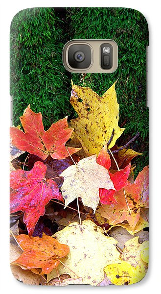 Galaxy Case featuring the photograph Moss And Leaves by Jim McCain