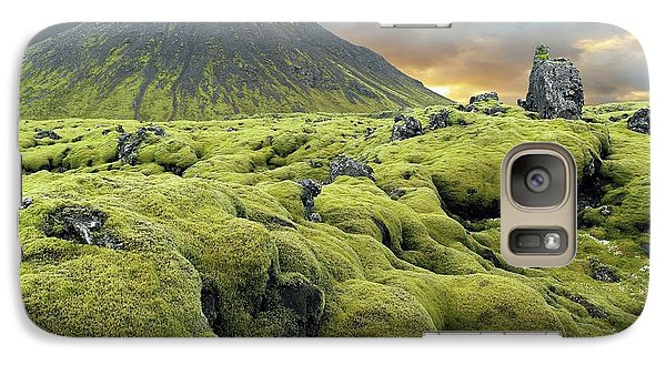 Moss-covered Lava Field Galaxy Case by Tony Craddock