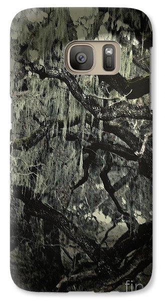 Galaxy Case featuring the photograph Moss Covered Oak by Gary Brandes