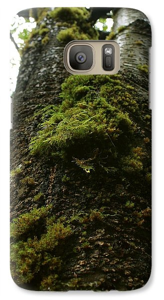 Galaxy Case featuring the photograph Moss Covered Tree by Amanda Holmes Tzafrir